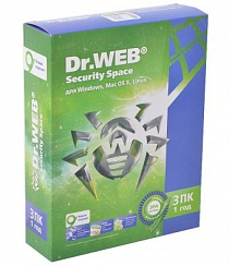 Dr.Web Security Space 3ПК/ 1 год